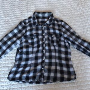 Vintage black and white flannel!